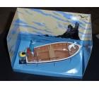 tintin et milou en bateau vers l'ile noire